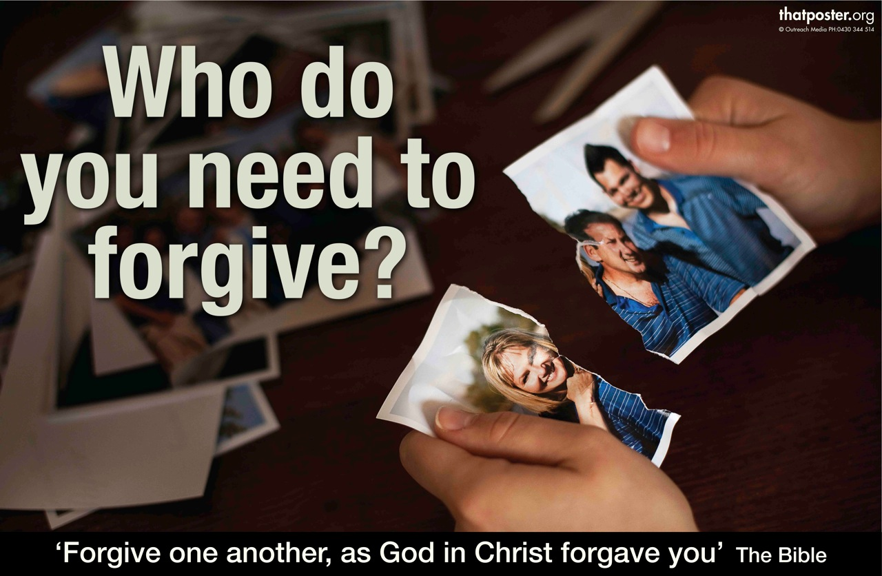 Who do you need to forgive?